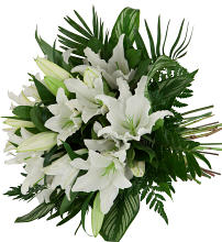 White Lilies Hand Tied
