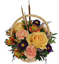 Flowering Fall Basket