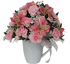 Pink Flowers in a Mug