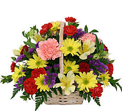 Rainbow Floral Basket