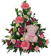 Flowers With Teddy Bear