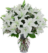 Funeral flower arrangement delivery canada flowers white lily tribute mightylinksfo