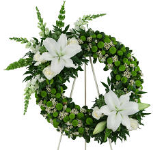 Green & White Wreath