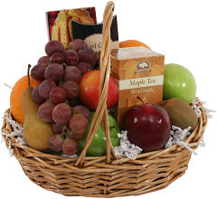Fruit, Tea & Cookie Basket