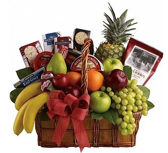 Teleflora Fruit & Gourmet. A gourmet gift basket ...
