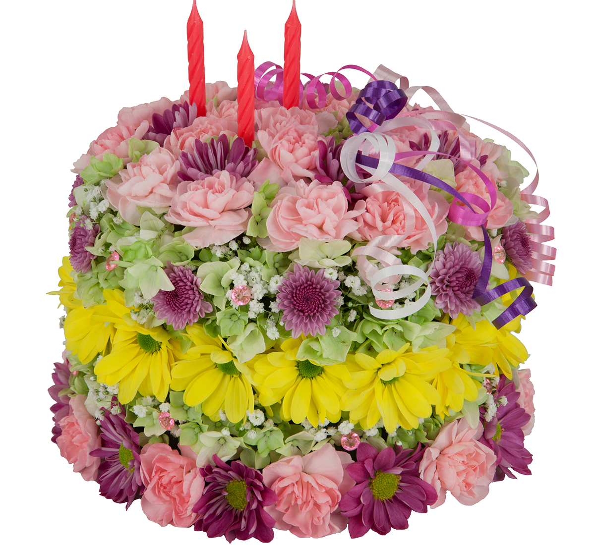 happy birthday flower cake · birthday flowers · canada flowers.ca, Natural flower