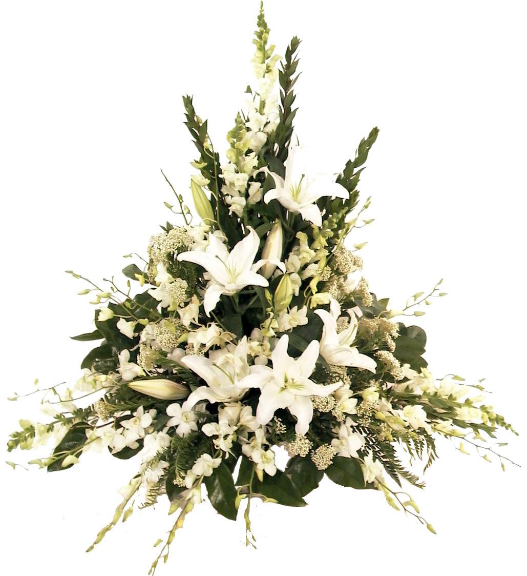 Calgary funeral flowers canada flowers memorial in white izmirmasajfo