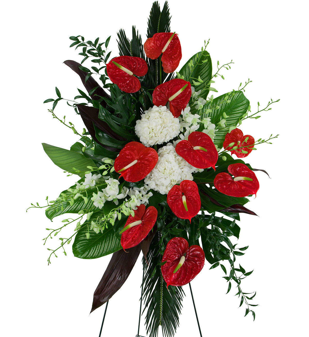 Toronto funeral flowers canada flowers red anthurium spray izmirmasajfo