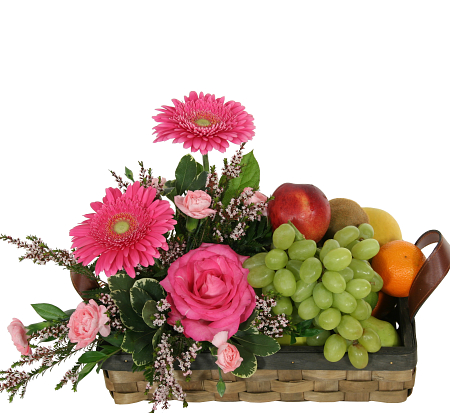 Fruit Flower Basket Sympathy Fruit Gourmet Gift
