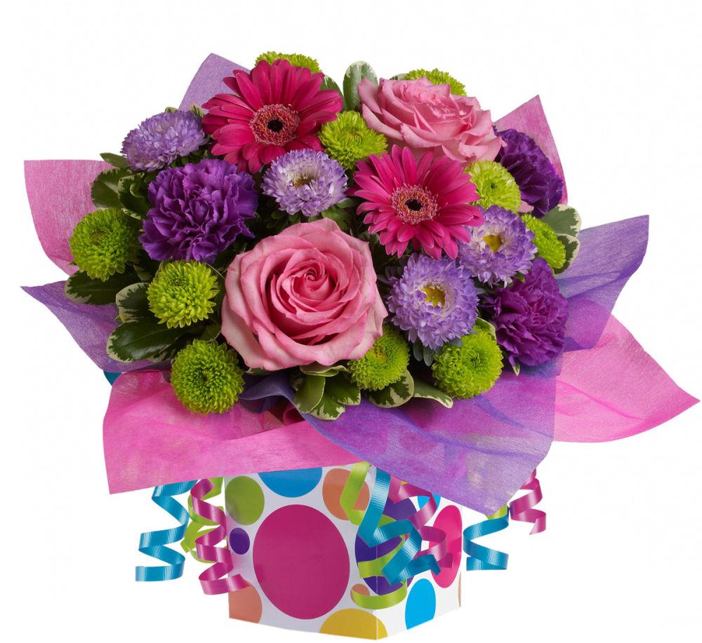 Teleflora's Confetti Present · Teleflora Birthday Flowers ...
