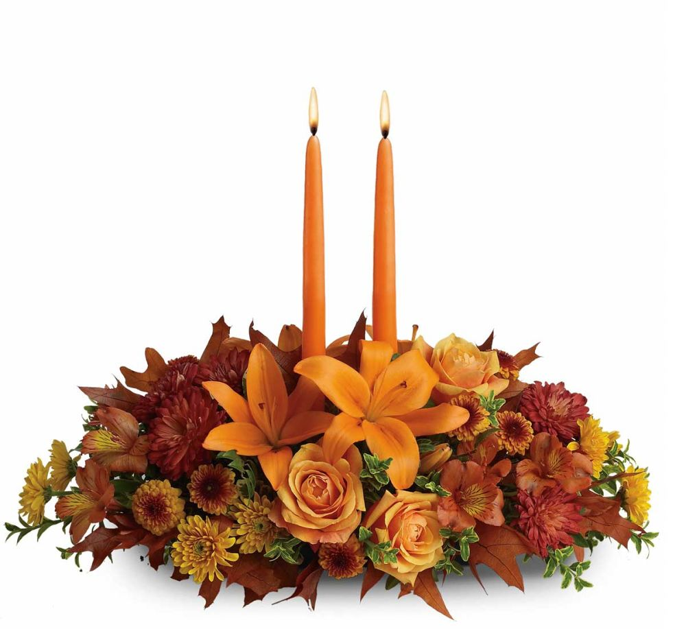 Teleflora s family gathering centerpiece · fall