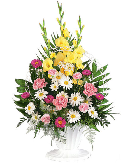 Funeral Flower Arrangements for the Home or Funeral Service by FTD and Teleflora florists.