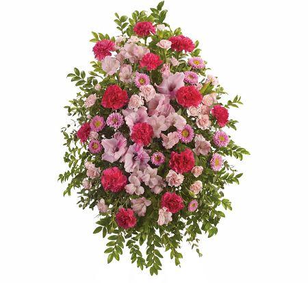 Teleflora S Pink Tribute Spray 183 Teleflora Funeral Flowers