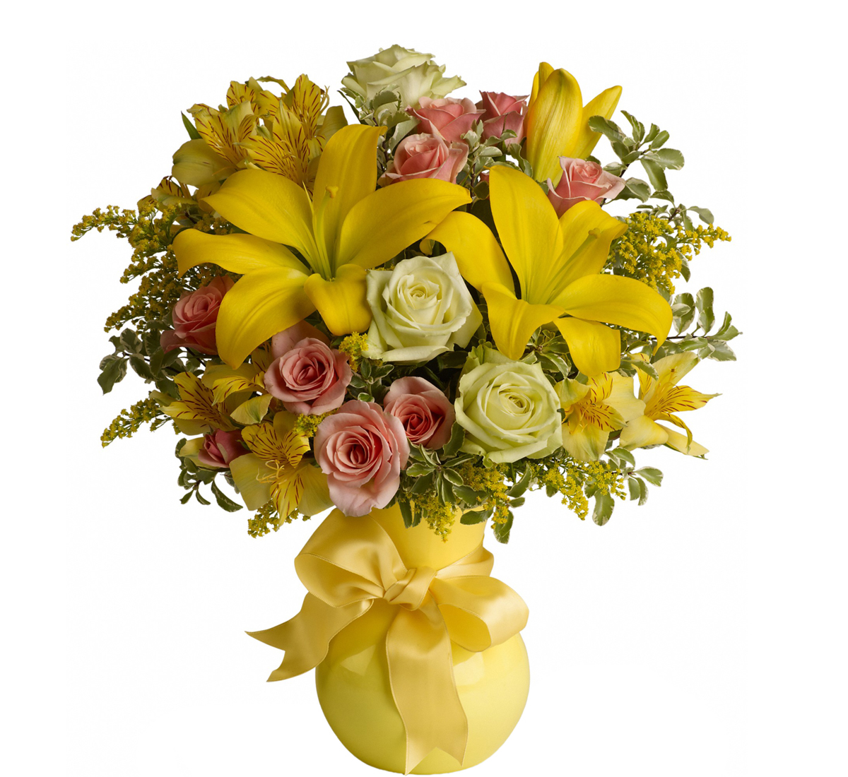 Bright and cheery flowers same day delivery - Teleflora S Sunny Smiles Bouquet T42 1a 183 Teleflora