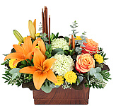 Rich orange, golden yellow and harvest red... these are classic Fall and Thanksgiving flower colours. Bring these harvest colours indoors this year with our beautiful, original Fall flower bouquets and flower arrangements, suitable for sending on any occasion during the months of October and November. Fall flower delivery in Canada is quick and easy at Canada Flowers, your #1 award-winning online florist.