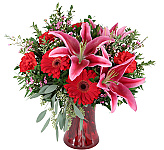 Find floral gifts that speak from the heart this Valentine's Day, Wednesday, February 14th, 2018. We offer the finest in original flower arrangements combined with genuinely exceptional personal customer service. Trust in Canada Flowers to help you show that they are still the best thing that has ever happened to you. Upgrade most Valentine arrangements shown at checkout with a teddy bear, chocolates, or a balloon as an added touch of love. For more floral ideas for your Valentine this year, check out our Love & Romance section. Send some floral love to someone in Canada today!