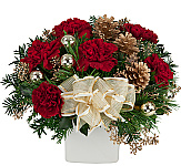 Festive Christmas Flowers on a budget, featuring beautiful, budget friendly Christmas arrangements for gift giving. Prices are in Canadian dollars. We have selected a variety of popular, fresh and festive flowers - many below $60 including delivery in Canada - for Christmas Holiday gift giving. Merry Christmas from Canada Flowers!