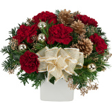 Festive Christmas Flowers on a budget, featuring beautiful, budget friendly Christmas arrangements for gift giving. Prices are in Canadian dollars and already include delivery. We have selected a variety of popular, fresh and festive flowers - many below $60 including delivery - for Christmas Holiday gift giving. Merry Christmas from Canada Flowers!