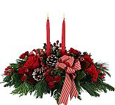 Our Christmas Centerpieces catalogue features beautiful flower centerpieces for the Christmas holiday season. Choose centrepiece arrangements with or without candles, in red, pink or white festive colours. Try sending a Christmas floral centerpiece to a loved one in Canada and leave a lasting impression this holiday season!