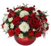 Celebrate the Christmas Holiday season with beautiful Christmas flowers, poinsettias or fruit and gourmet gift baskets from Canada Flowers, Canada's National Florist. Now with over 200 gifts! Our Christmas flower arrangements, bouquets and floral centerpieces will surely bring warmth and cheer to any home or office. Same day Christmas flower delivery is available for most flower gifts.