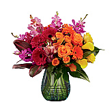 Our artistic and exotic tropical flower designs are created and photographed in our own studios. These stylish flowers are available nowhere else online. Created for any occasion, these unique arrangements feature the freshest flowers with tropical, exotic exuberance and modern flair. Some items can be delivered same day in Canada, however most of these captivating gifts with rare and special tropical flowers require an extra day or more for delivery. Trust us, the extra time needed for delivery is totally worth it!
