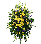 Welcome to Canada Flowers' catalogue of Standing Sprays and Hanging Sprays for the Funeral Home. We are pleased to offer a careful selection of traditional, popular spray arrangements. Or consider expressing your condolences with one of our Funeral Wreaths. With over 50 years experience providing flowers for life's most important occasions in Canada, you can trust Canada Flowers with your most important floral orders.