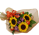 Everyone loves sunflowers! What's not to love? Any time we can bring some sunshine inside for others to enjoy, it's a pleasure for all. Please note that sunflowers are widely available for delivery in Canada from late summer to mid autumn. Availability may be limited at other times. When sunflower arrangements are not available, large yellow Gerbera daisies or similar flowers may be substituted.