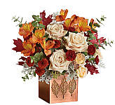 All of our rich, colourful Teleflora fall flowers are hand-made by the very best professional Teleflora florists and are locally delivered fresh to the door in Canada. We are Canada Flowers, Canada's national florist, specializing in premium local Canadian Teleflora flower delivery services. If you don't find the perfect fall flower arrangement below, you can check out our catalogue of original Fall Flowers.