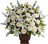 Teleflora Funeral Flowers are designed for display at the funeral home for visitation or services, or in the church or mortuary. They are a lovely way to express your sincere condolences and sympathy to the family. These Teleflora funeral arrangements are suitable whether they are from family, friends, business associates, co-workers or anyone who wants to send their respects. You can trust the service and quality at Canada Flowers when searching online for a funeral flower delivery to Canada. For additional selections, browse our Original Funeral Arrangements.