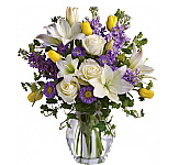 Our Teleflora Spring Flower catalogue features a variety of fresh arrangements and bouquets. Welcome the warmer weather with a colourful spring flower arrangement, delivered to your door by a local florist. Trust Canada Flowers with your spring flower delivery in Canada, we guarantee your satisfaction. We also have our own catalogue of originally designed Spring Flowers to choose from. Delivery available to most towns and cities Canada-wide!