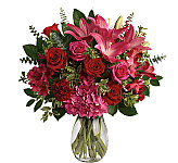 Celebrate romance that's here to stay this Valentine's Day with an arrangement that radiates love in passionate shades of pink and red. Canada Flowers is happy to offer a fantastic catalogue of Teleflora Valentine's Day Flowers for delivery in Canada. Canada Flowers is Canada's National Florist, proudly offering the finest Teleflora flowers to send across Canada. If you need more to choose from, see our catalogue of Canada Flowers Original Mother's Day Flowers. What would be better to make your Valentine's Day perfect?