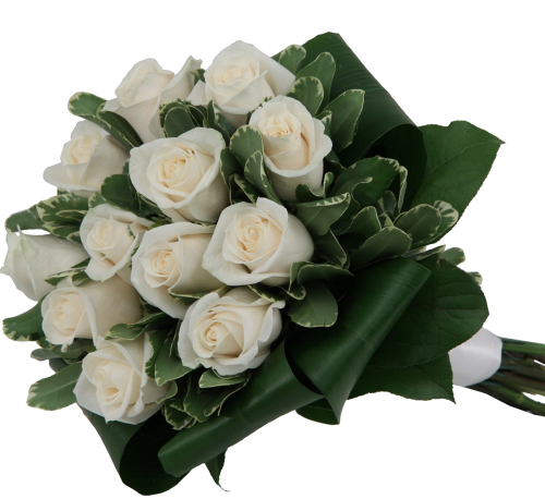 White Hand Tied Roses