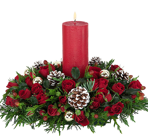 Christmas Rose Centerpiece