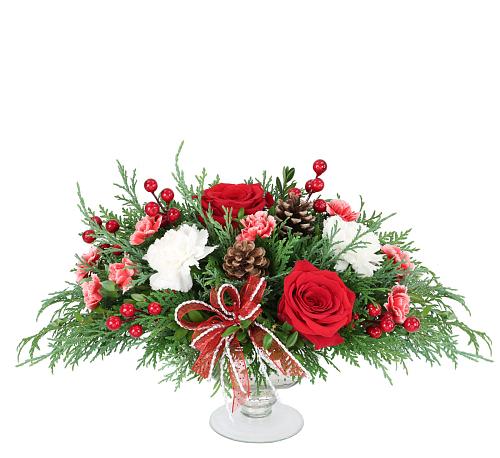 Christmas floral centerpieces · merry berry cc aa