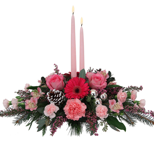 Pink Candle Centerpiece