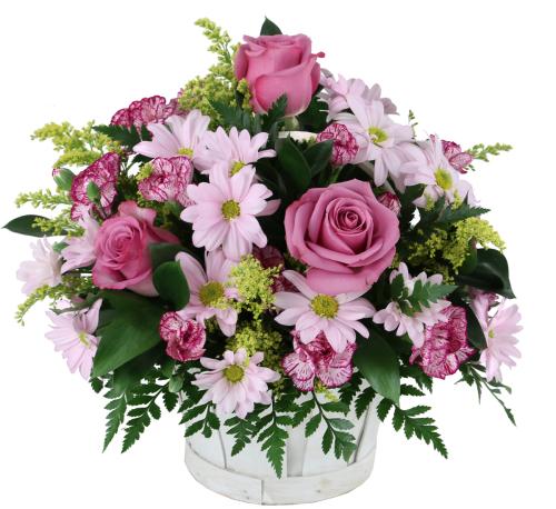 Spring flowers lavender flower basket spg8aa canada flowers lavender flower basket mightylinksfo