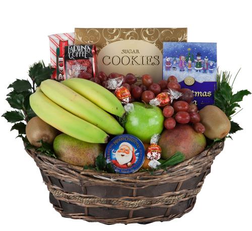 Fruit gift baskets for christmas