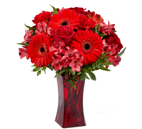 The FTD® Red Reveal Bouquet