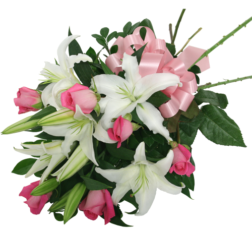 Japan flower delivery lily and rose bouquet jpa9aa canada lily and rose bouquet izmirmasajfo