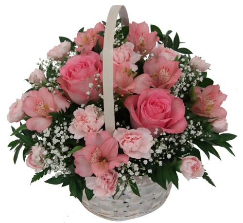 Japan Flower Delivery Pink Flower Basket Jpa7aa Canada Flowers
