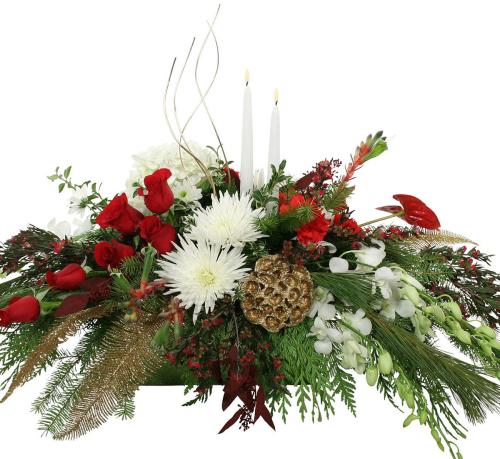 Premium Christmas Flowers · Premium Christmas Centerpiece #CP7AA ...