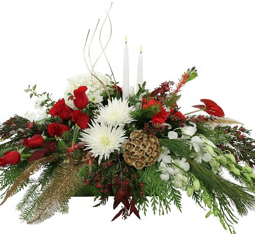 Premium christmas flowers · centerpiece