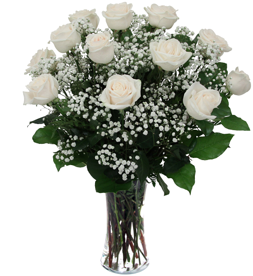 White Roses Sy13aa Sympathy Flower Arrangements Canada Flowers Ca