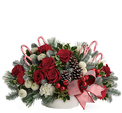 Teleflora's Jolly Candy Cane Bouquet