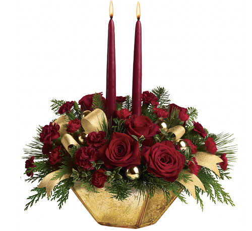 Teleflora's Crimson and Gold