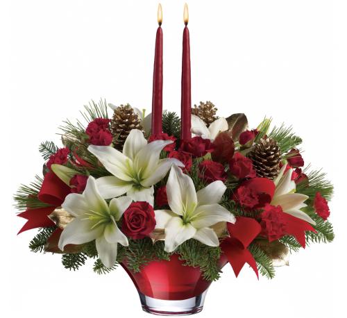 teleflora christmas centerpieces 13x210a cc9ta canada flowers ca