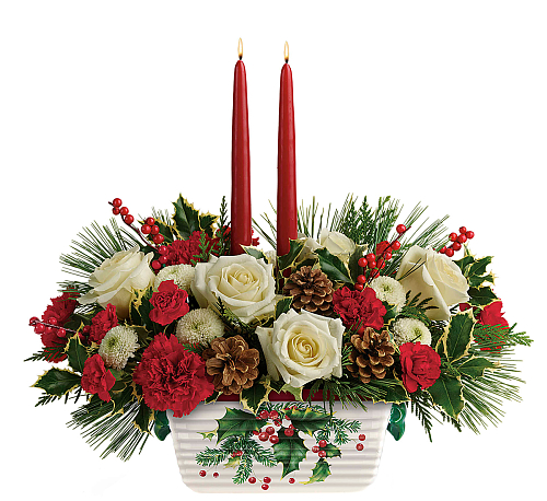 Teleflora's Halls Of Holly Centerpiece