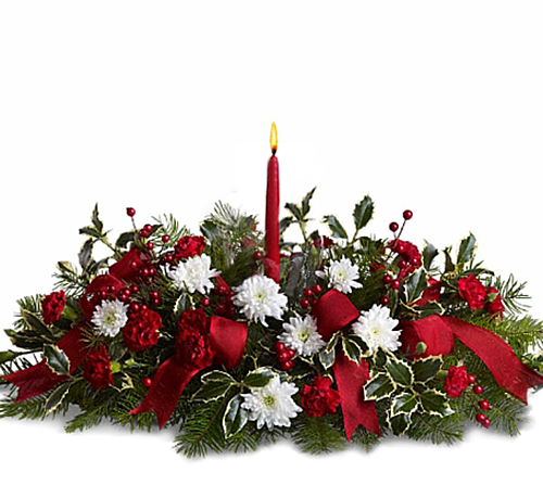 Teleflora's Happy Holidays Centerpiece