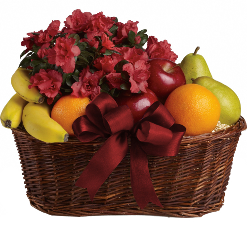 Teleflora's Fruits and Blooms Basket