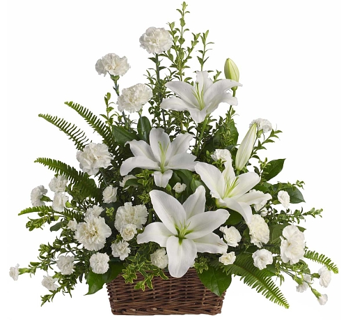 Teleflora's Peaceful White Lilies
